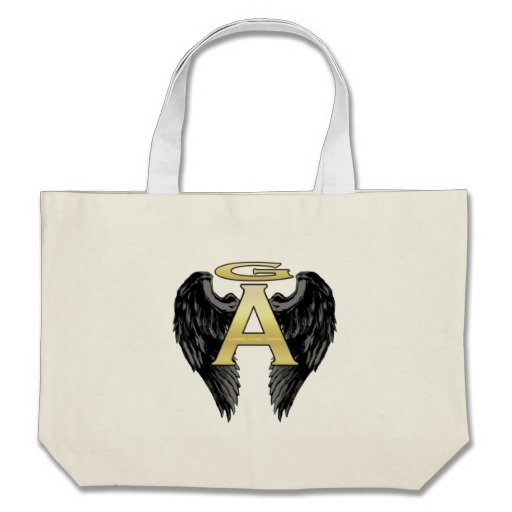 Gabriel Angel Design Wings Logo Tote Bag