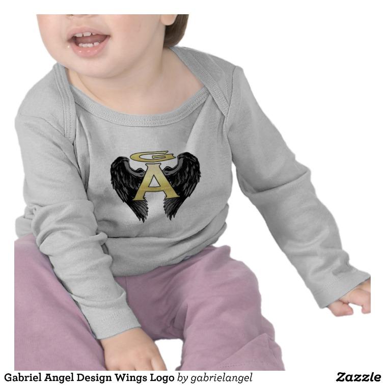 Gabriel Angel Design Wings Logo Tshirt