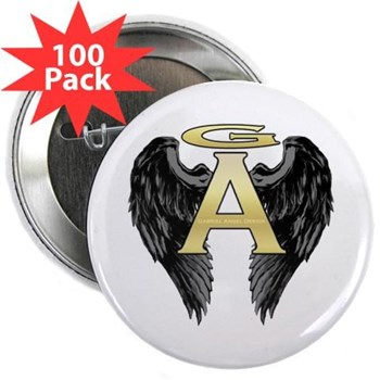 "Archangel Wings 2.25"" Button (100 pack)"