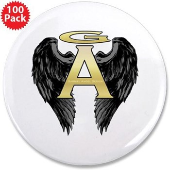 "Archangel Wings 3.5"" Button (100 pack)"