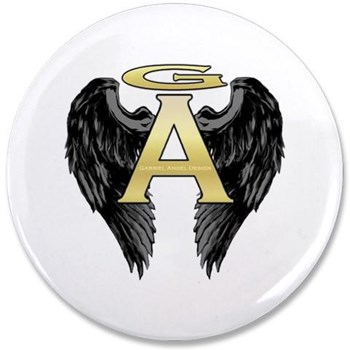 "Archangel Wings 3.5"" Button"