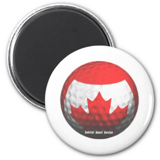 Canada Golf Fridge Magnets