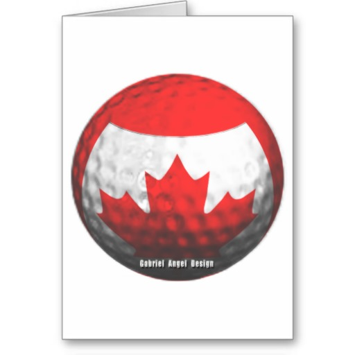 Canada Golf Greeting Card