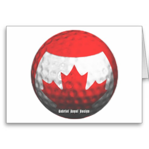 Canada Golf Greeting Cards