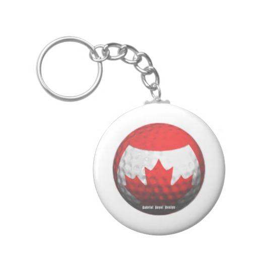 Canada Golf Keychain