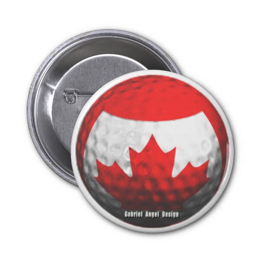 Canada Golf Pinback Buttons