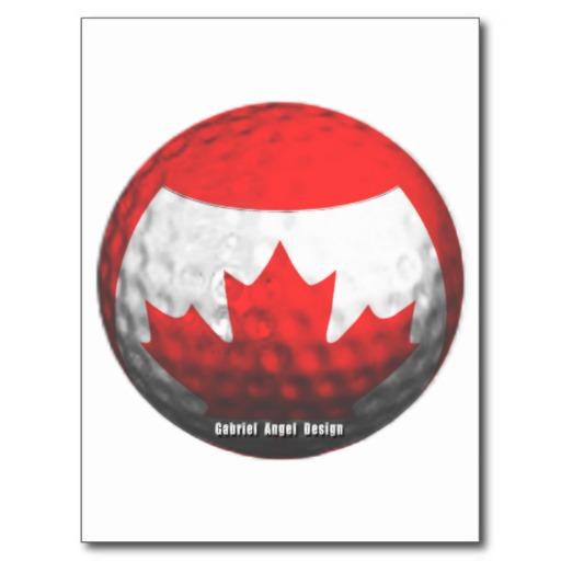 Canada Golf Postcard