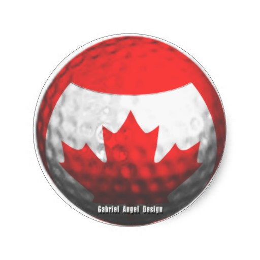 Canada Golf Round Stickers