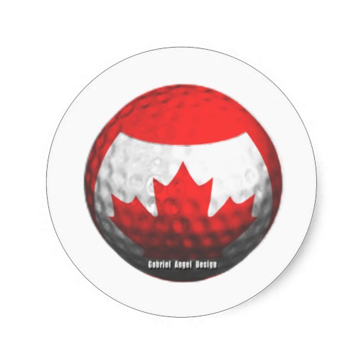Canada Golf Stickers