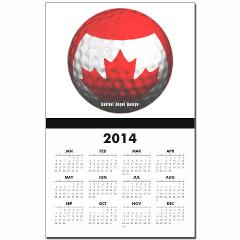 Canadian Golf Calendar Print