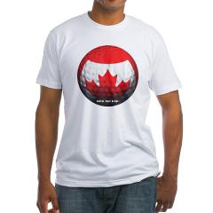 Canadian Golf Fitted T-Shirt