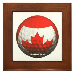 Canadian Golf Framed Tile