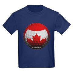 Canadian Golf Kids Dark T-Shirt