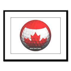 Canadian Golf Large Framed Print