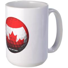 Canadian Golf Large Mug