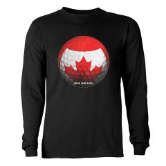 Canadian Golf Long Sleeve Dark T-Shirt