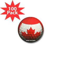 Canadian Golf Mini Button (100 pack)