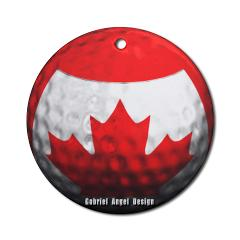 Canadian Golf Ornament (Round)
