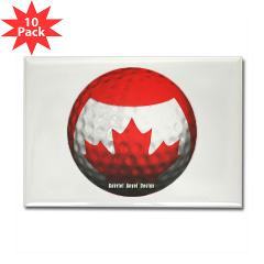 Canadian Golf Rectangle Magnet (10 pack)