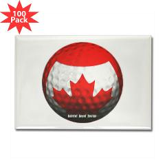 Canadian Golf Rectangle Magnet (100 pack)