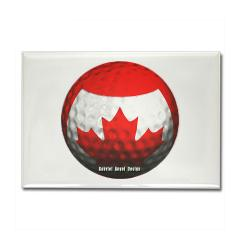Canadian Golf Rectangle Magnet