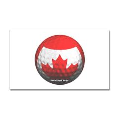 Canadian Golf Rectangle Sticker