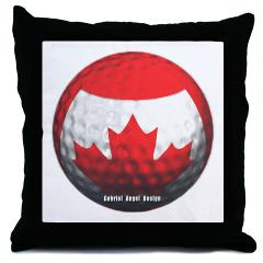 Canadian Golf Throw Pillow