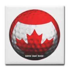 Canadian Golf Tile Coaster