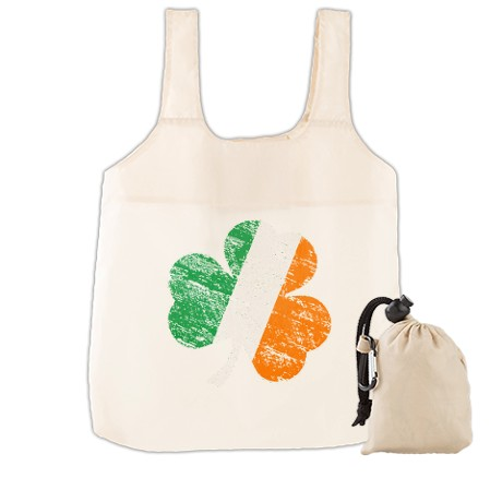 Vintage Distressed Irish Fla Reusable Shopping Bag