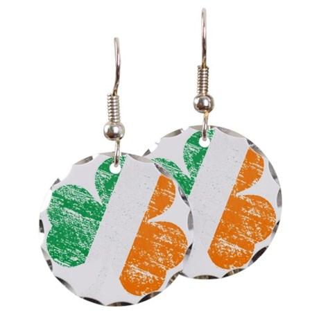 Vintage Distressed Irish Flag Earring