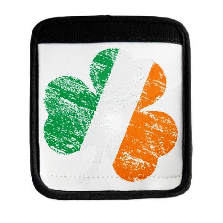 Vintage Distressed Irish Flag Luggage Handle
