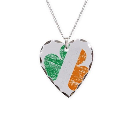 Vintage Distressed Irish Flag Necklace