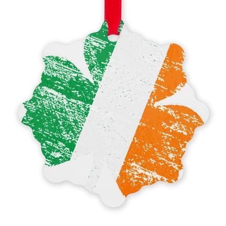 Vintage Distressed Irish Flag S Ornament