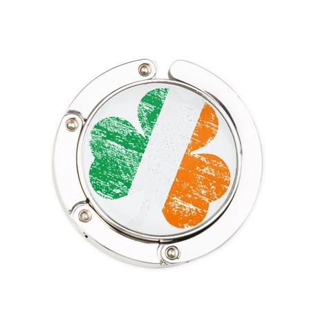 Vintage Distressed Irish Flag S Round Purse Hanger