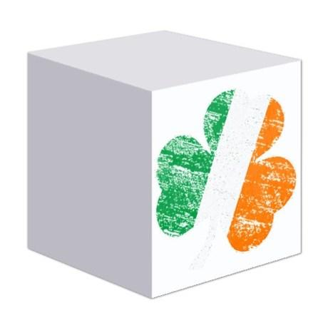 Vintage Distressed Irish Flag Shamr Sticky Notes