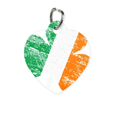 Vintage Distressed Irish Flag Shamro Pet Tag