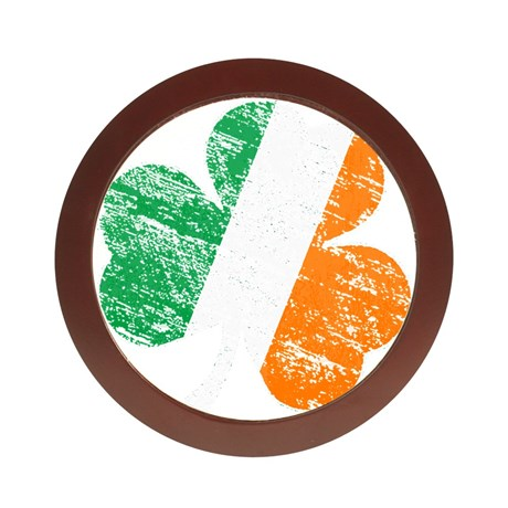 Vintage Distressed Irish Flag Shamroc Jewelry Case