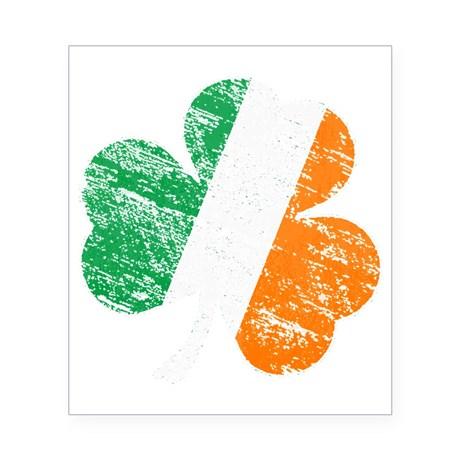 Vintage Distressed Irish Flag Shamrock Beer Label