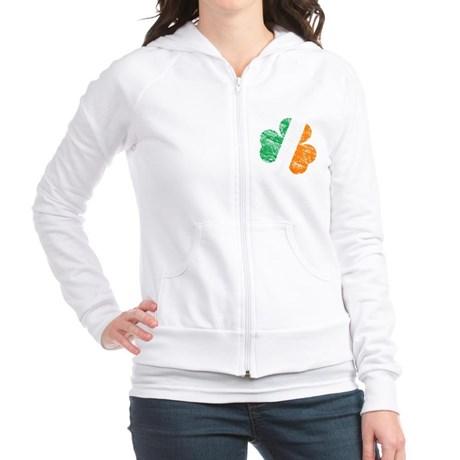 Vintage Distressed Irish Flag Shamrock Fitted Hoodie