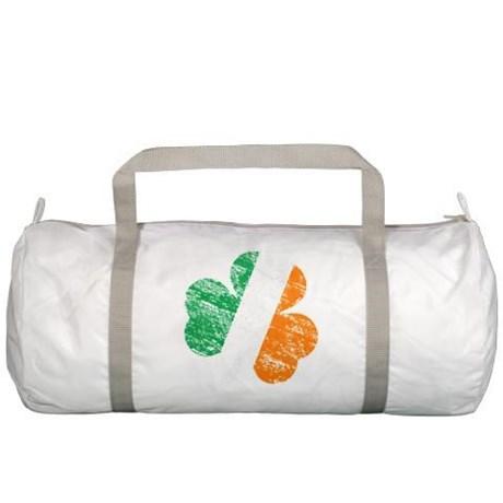 Vintage Distressed Irish Flag Shamrock Gym Bag