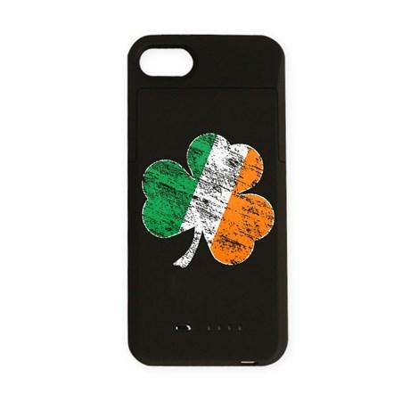 Vintage Distressed Irish Flag Shamrock iPhone Char