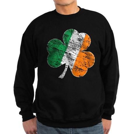Vintage Distressed Irish Flag Shamrock Sweatshirt