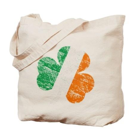 Vintage Distressed Irish Flag Shamrock Tote Bag