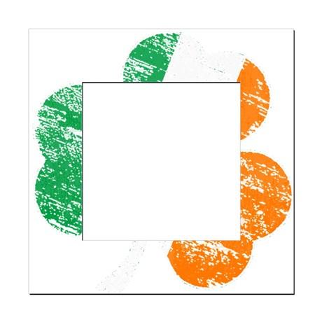 Vintage Distressed Irish Flag Square Locker Frame