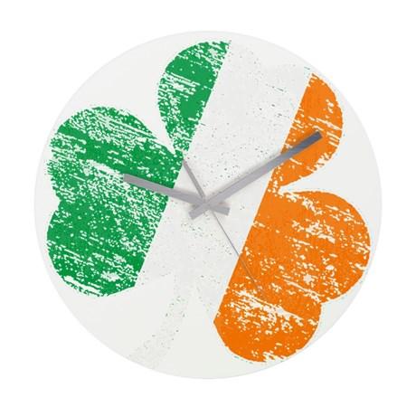 Vintage Distressed Irish Flag Wall Clock
