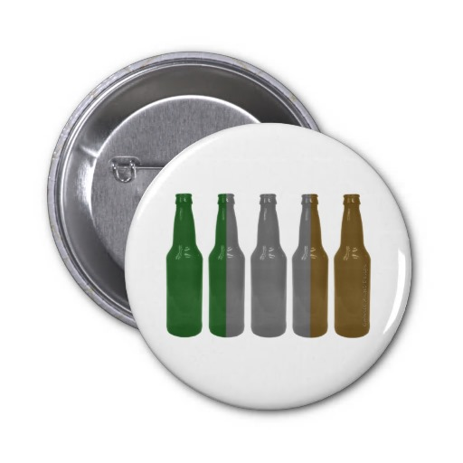 Irish Beer Bottles 2 Inch Round Button