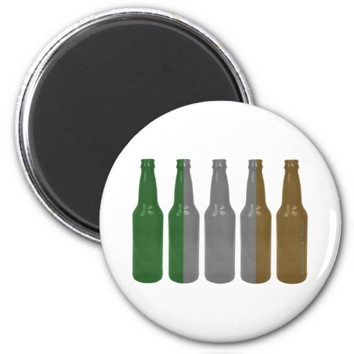 Irish Beer Bottles 2 Inch Round Magnet