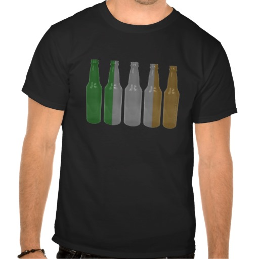 Irish Beer Bottles Basic T-shirt