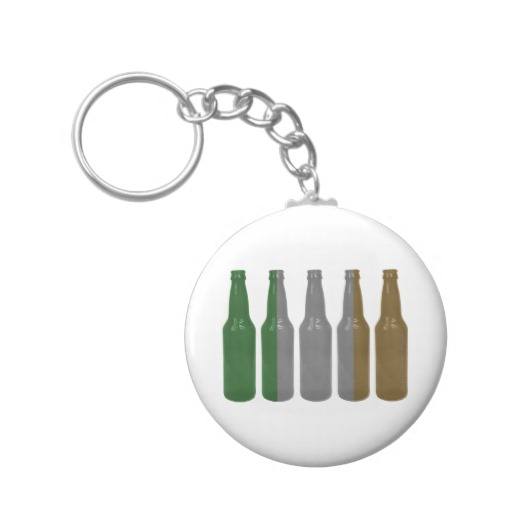 Irish Beer Bottles Basic Round Button Keychain