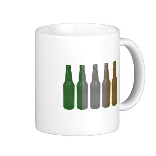 Irish Beer Bottles Basic White Mug